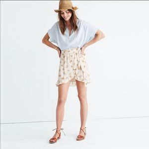 Madewll Floral Mini Wrap Skirt